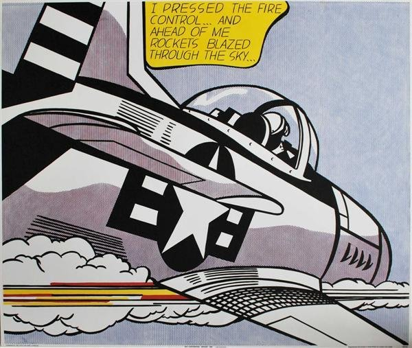 160: ROY LICHTENSTEIN (American) Color lithograph poste