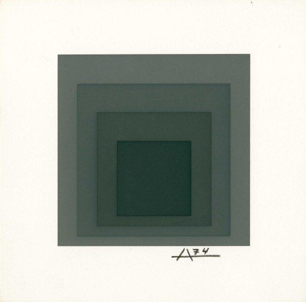 1A: JOSEF ALBERS (German/American) Original color silks