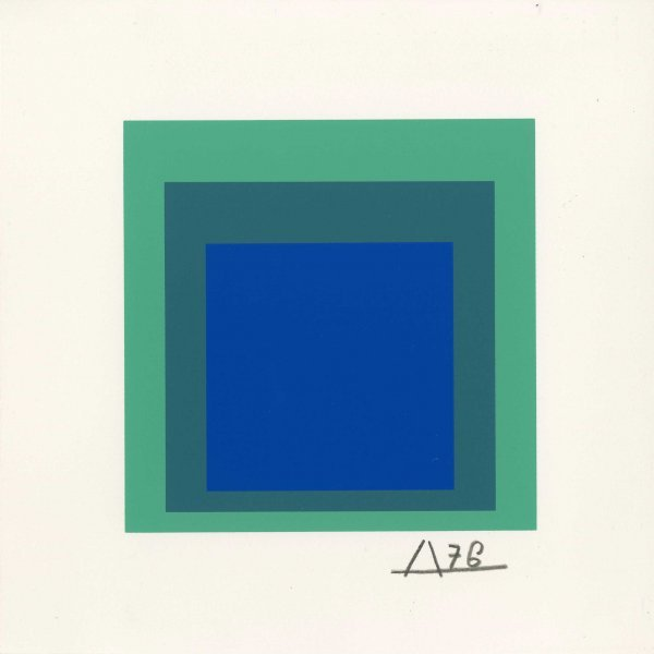 2A: JOSEF ALBERS (German/American) Original color silks