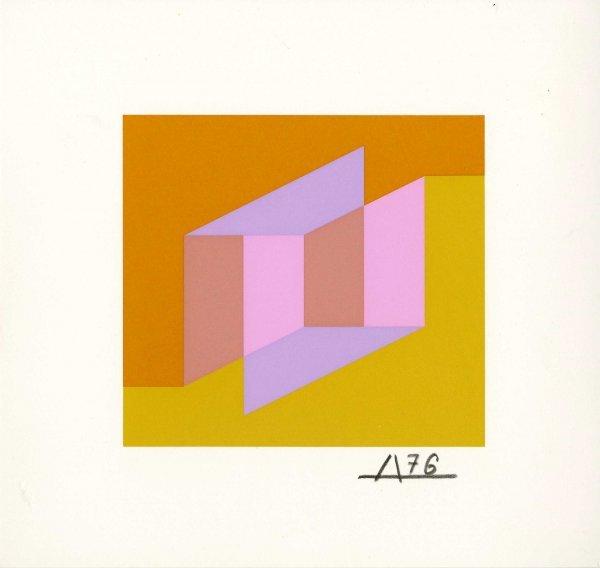 4A: JOSEF ALBERS (German/American) Original color silks