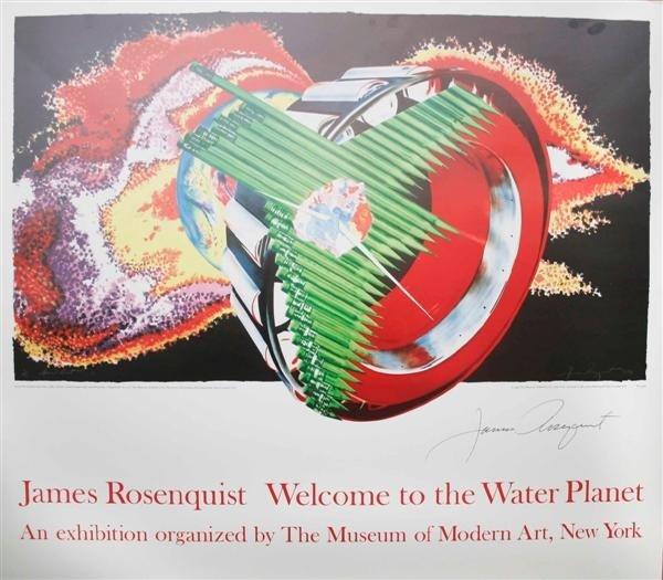 102: JAMES ROSENQUIST - Original color offset lithograp