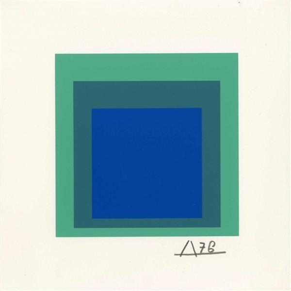 540: JOSEF ALBERS - Original color silkscreen