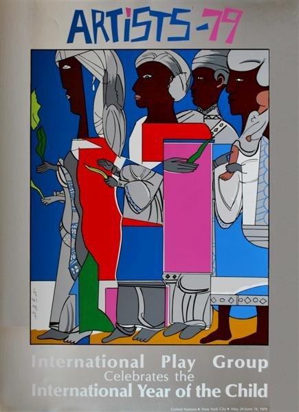 545: ROMARE BEARDEN - Color silkscreen poster