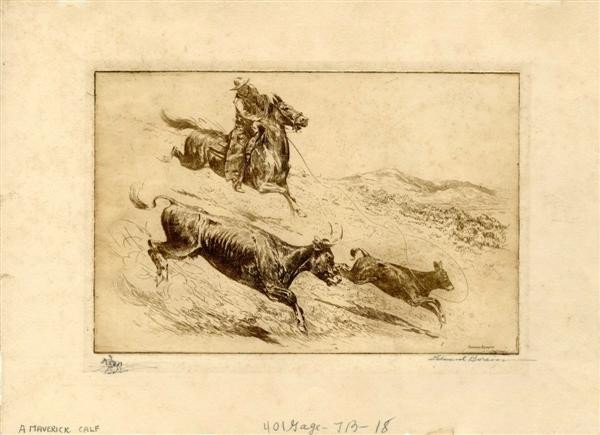 550: EDWARD BOREIN - Etching with drypoint printed in b