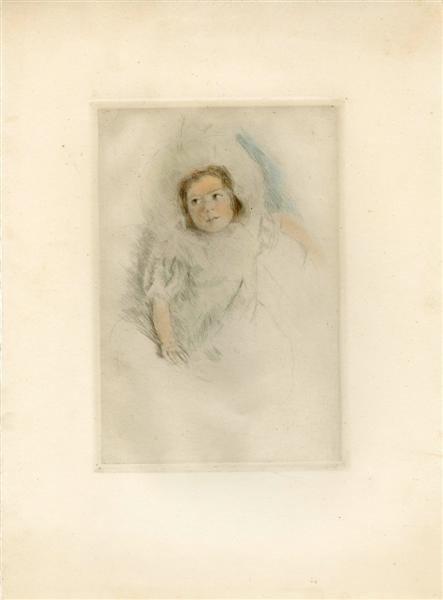 553: MARY CASSATT - Original color drypoint