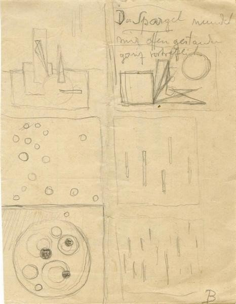 743: RUDOLF BAUER - Pencil drawing on paper