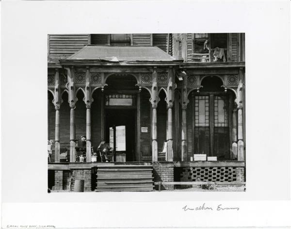 350: WALKER EVANS - Gelatin silver print