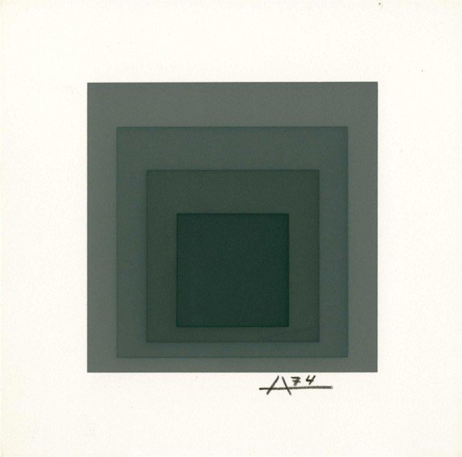 9: JOSEF ALBERS - Original color silkscreen