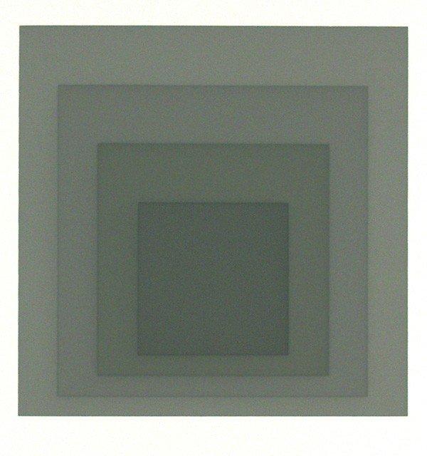10: JOSEF ALBERS - Original color silkscreen