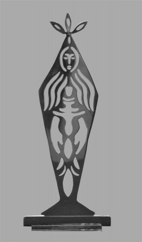429: KARIMA MUYAES - Hand cut Alpaca (nickel) silver sc