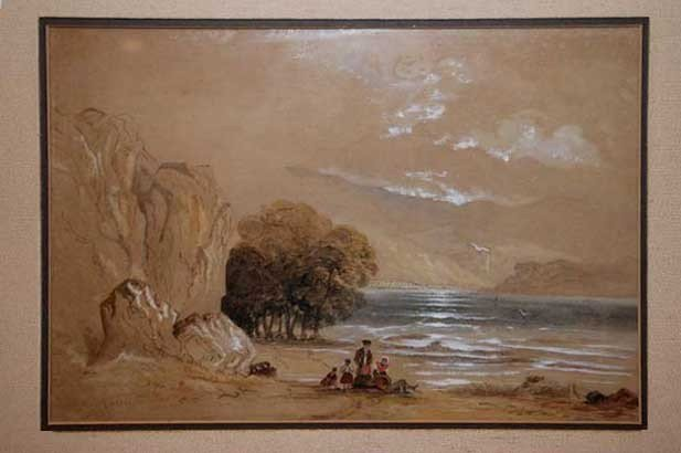 725: WILLIAM TROST RICHARDS - Gouache and watercolor on