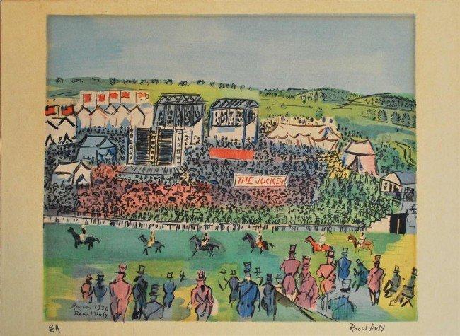 972: RAOUL DUFY - Original color lithograph