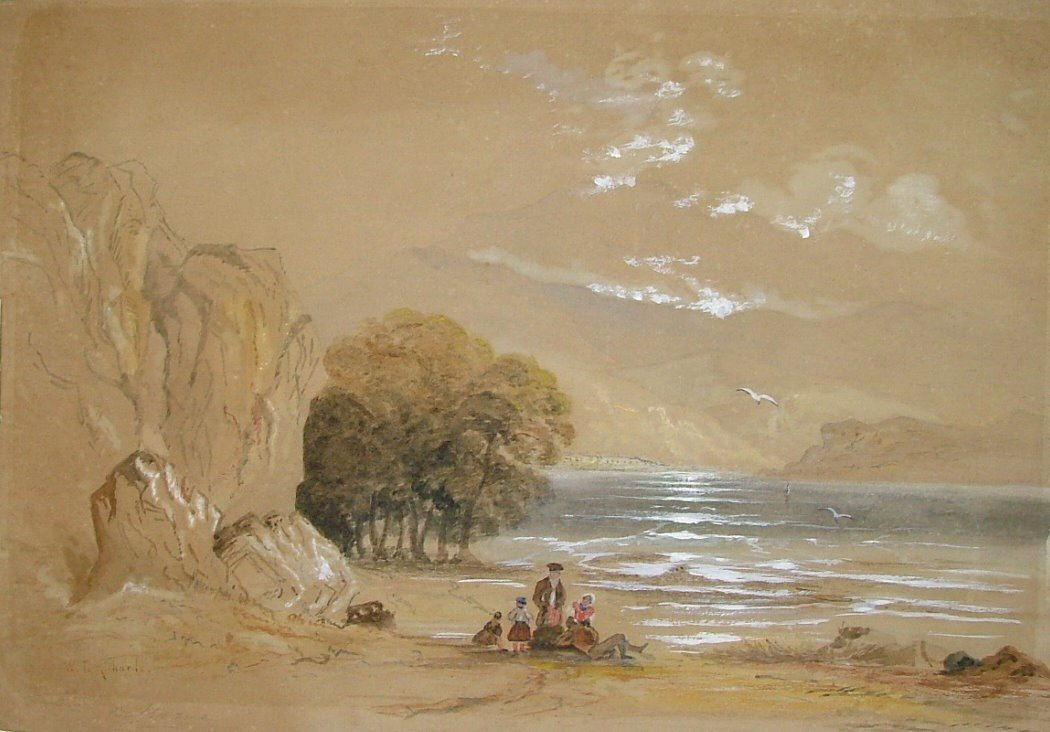 6: WILLIAM TROST RICHARDS - Gouache and watercolor on p