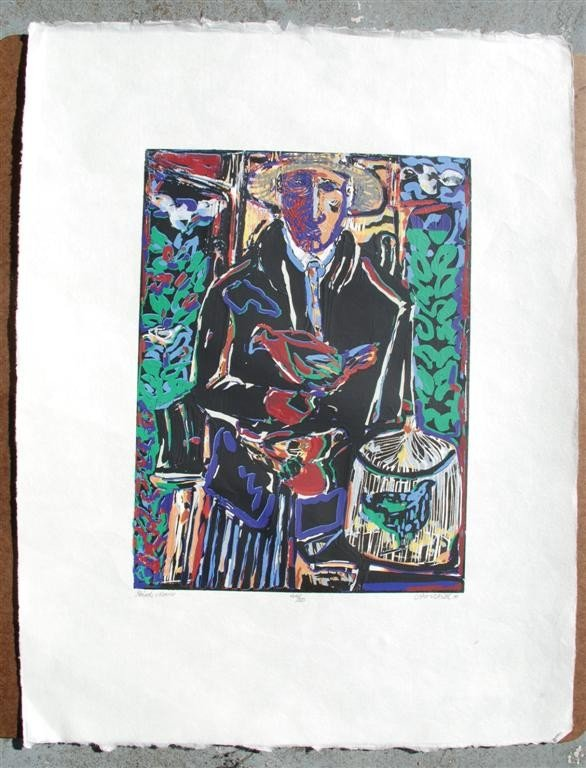 53: DAVID C. DRISKELL - Color woodcut