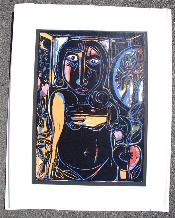 55: DAVID C. DRISKELL - Color silkscreen and relief