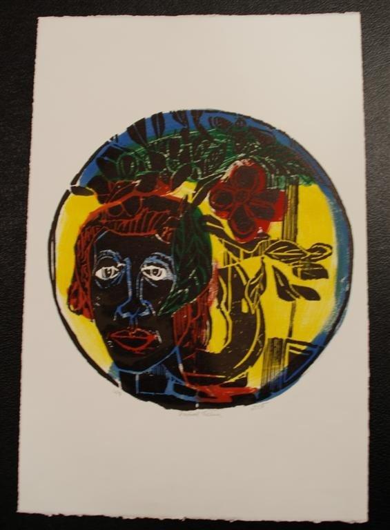 56: DAVID C. DRISKELL - Color woodcut