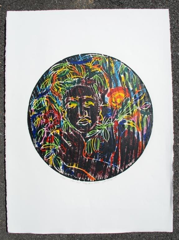 57: DAVID C. DRISKELL - Color woodcut