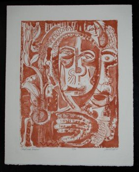 DAVID C. DRISKELL - Color Lithograph