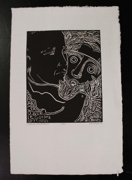 60: DAVID C. DRISKELL - Linocut