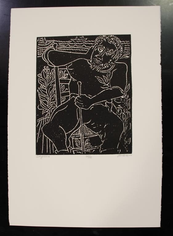 61: DAVID C. DRISKELL - Linocut