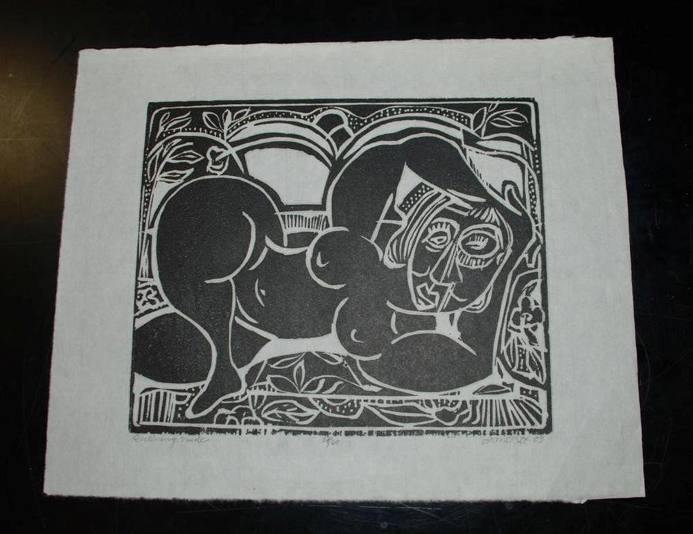 62: DAVID C. DRISKELL - Woodcut