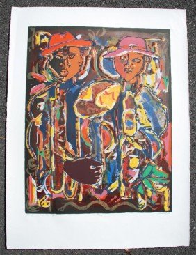 DAVID C. DRISKELL - Color Silkscreen And Lithograph