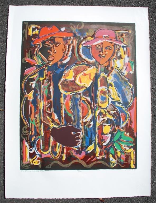 65: DAVID C. DRISKELL - Color silkscreen and lithograph