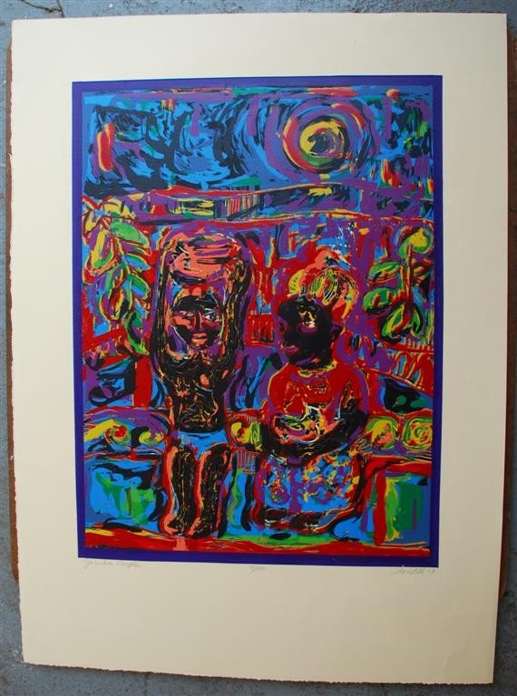 67: DAVID C. DRISKELL - Color silkscreen and relief