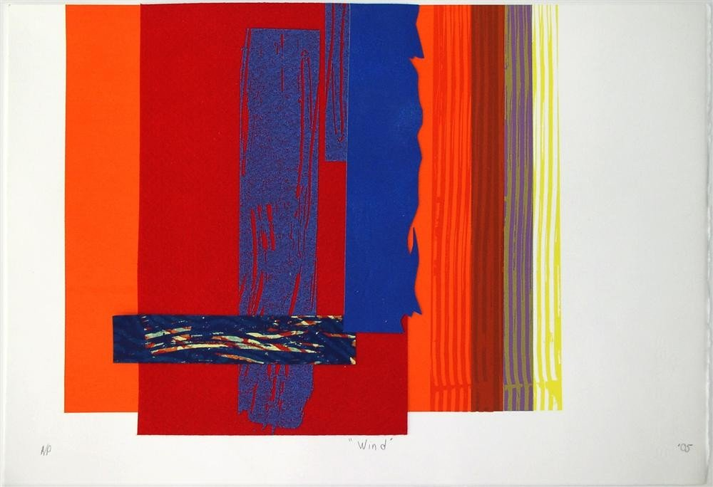 71: SAM GILLIAM - Color serigraph and relief with colla