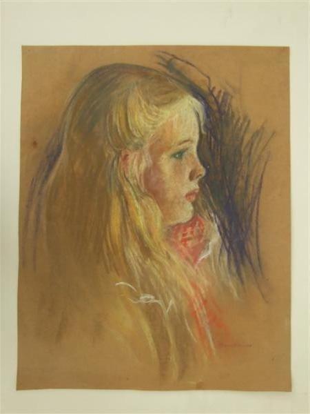 76: MARIE BRUNER BURT HAINES - Pastel on paper