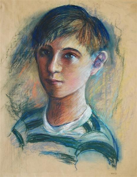 77: MARIE BRUNER BURT HAINES - Pastel on paper