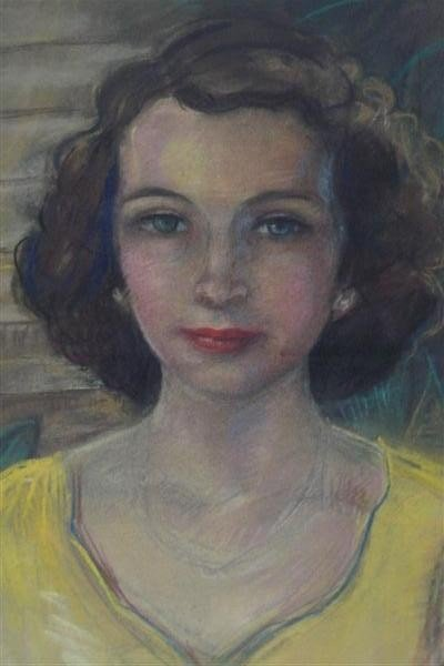 78: MARIE BRUNER BURT HAINES - Pastel on paper