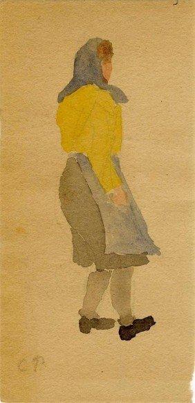 CAMILLE PISSARRO - Watercolor And Pencil On Paper