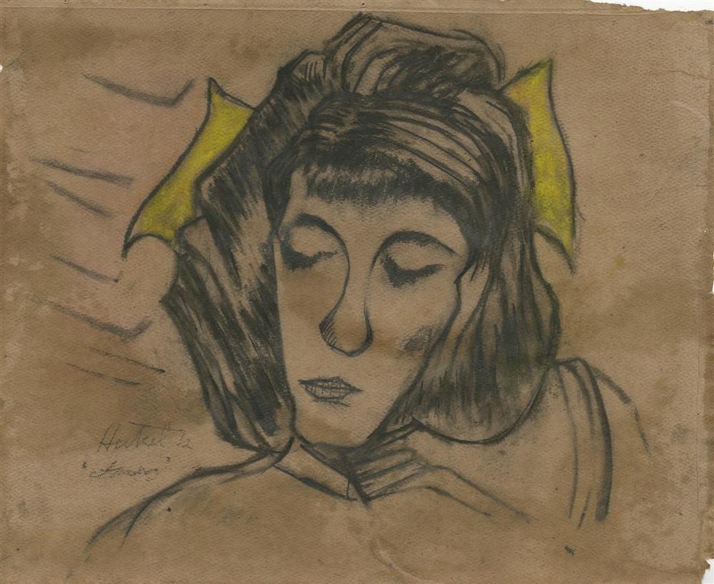 232: ERICH HECKEL - Mixed media (pastel, charcoal, penc