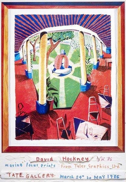 234: DAVID HOCKNEY - Color offset lithograph poster