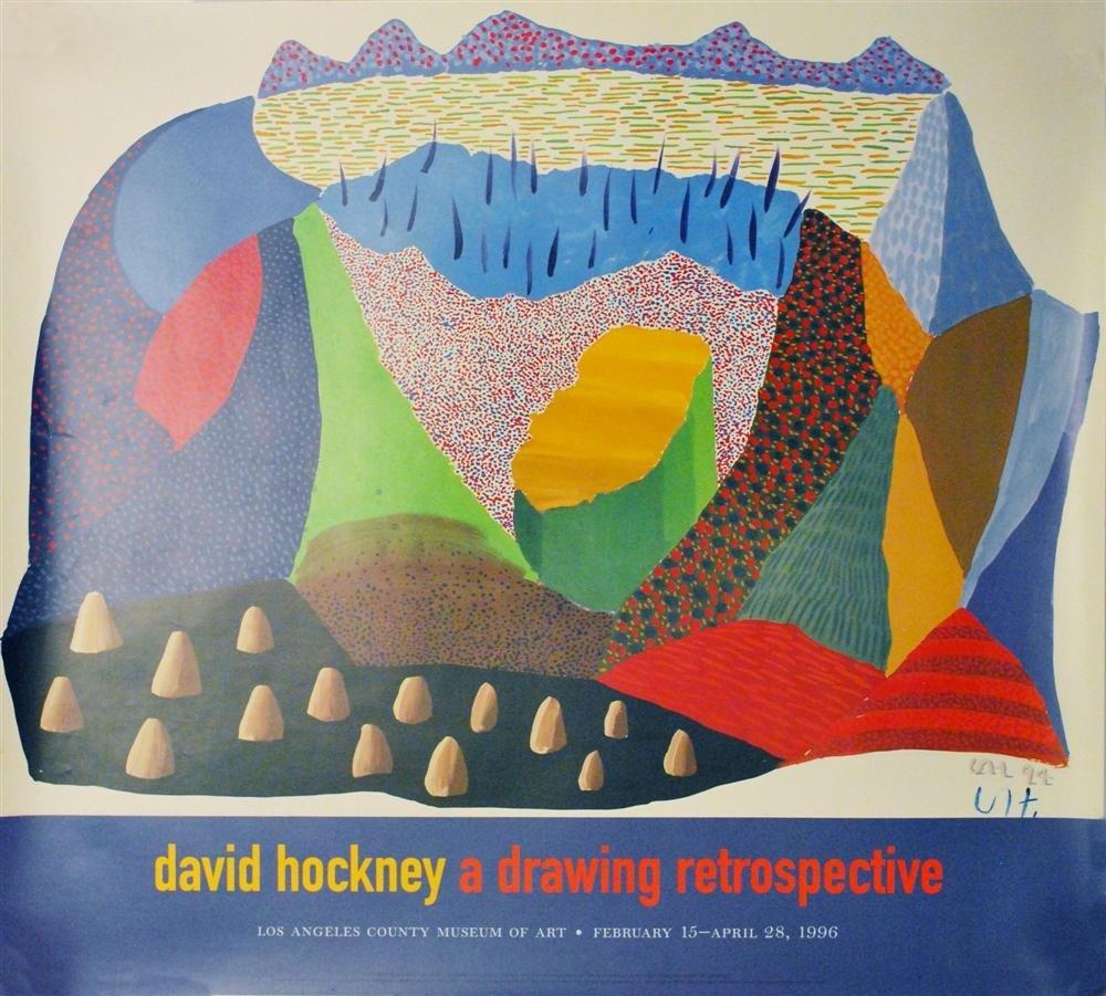 236: DAVID HOCKNEY - Color offset lithograph poster
