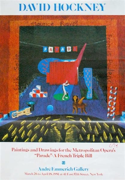 237: DAVID HOCKNEY - Color offset lithograph poster