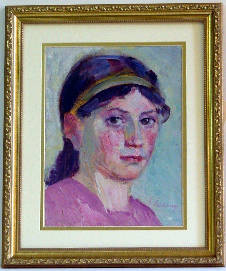 238: ALEXEJ VON JAWLENSKY - Oil on canvas, mounted on b