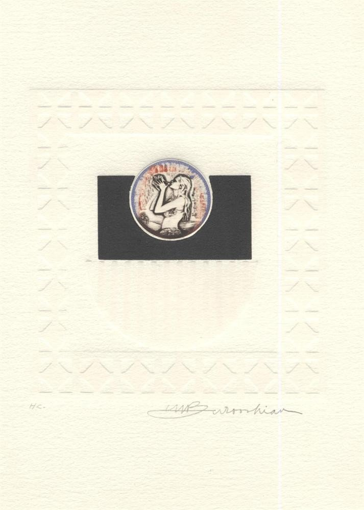 622: MARTIN BAROOSHIAN - Color intaglio etching with em