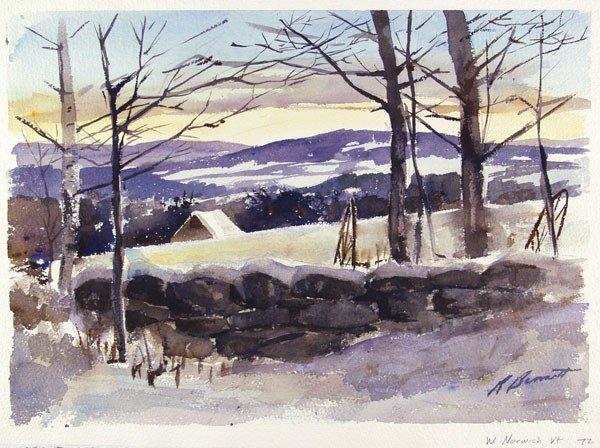 625: RICHARD BENNETT - Watercolor