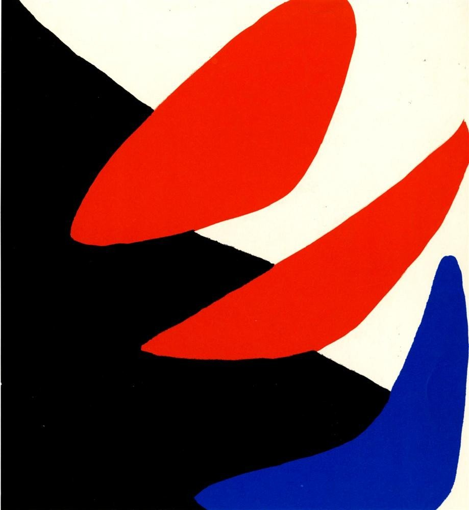 628: ALEXANDER CALDER - Color lithograph