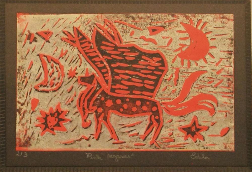 1074: ESTELA JEAN WILLIAMS - Color linocut
