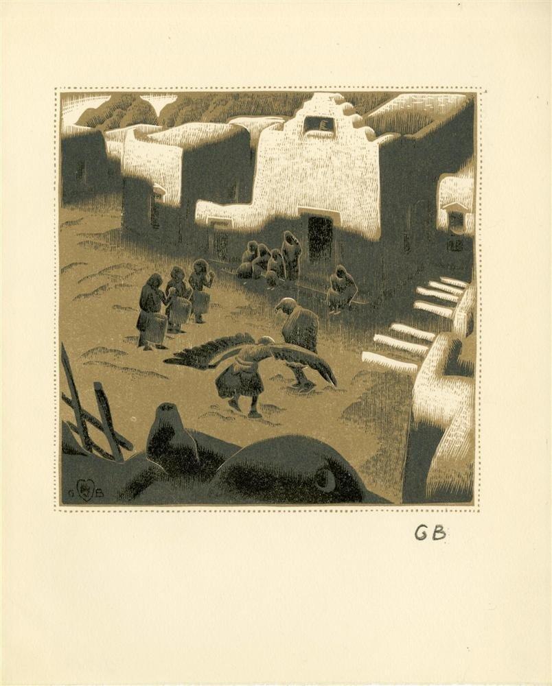 12: GUSTAVE BAUMANN - Color woodcut