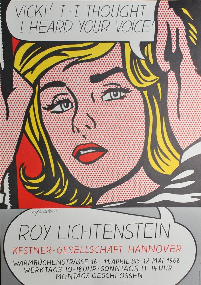 111: ROY LICHTENSTEIN - Color lithograph poster