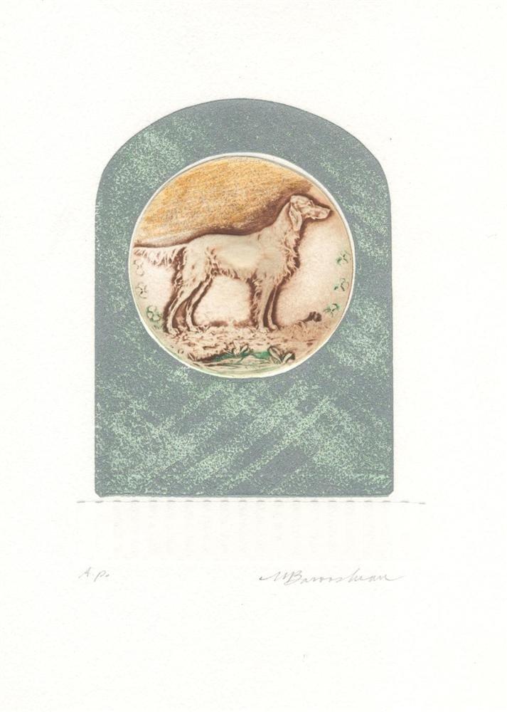 576: MARTIN BAROOSHIAN - Color intaglio etching with em