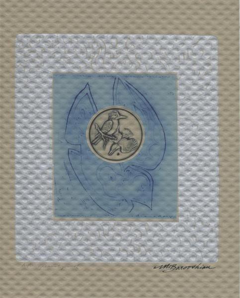 577: MARTIN BAROOSHIAN - Color intaglio etching with em
