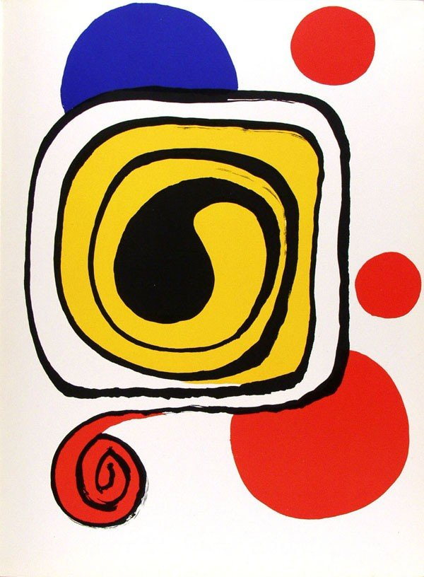 581: ALEXANDER CALDER - Color lithograph