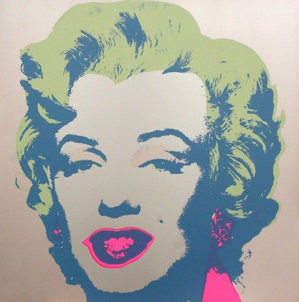 713: ANDY WARHOL [AFTER] - Original color silkscreen