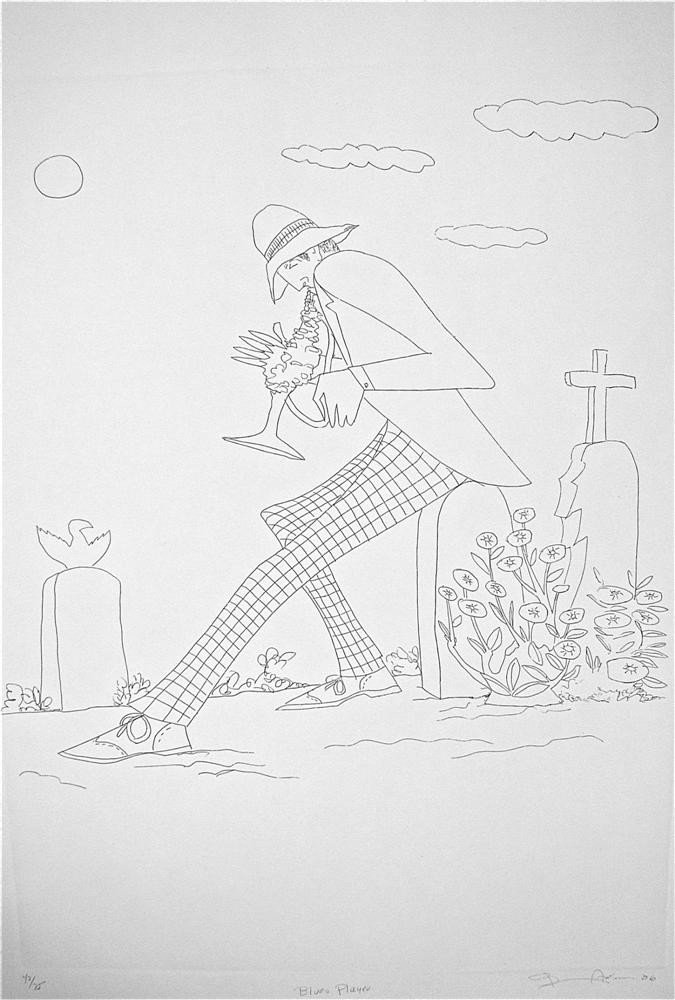 2: BENNY ANDREWS - Etching
