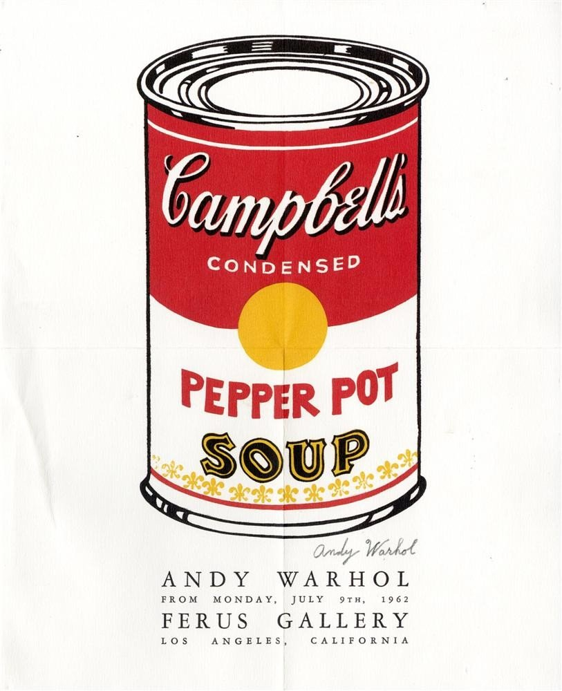 151: ANDY WARHOL - Original color offset lithograph pos